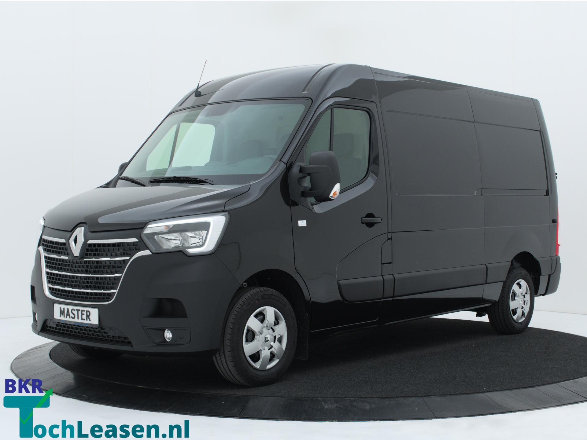 Renault Master L2H2 180 pk zwart voorkant BKR toch Leasen