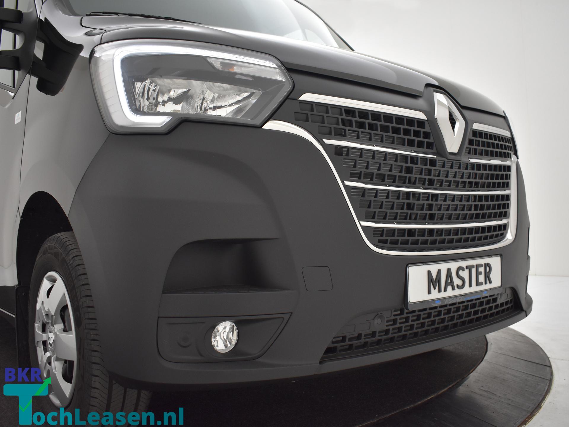 Renault Master L2H2 180 pk zwart voorkant neus BKR toch Leasen
